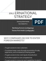 Chapter 7 International Strategy