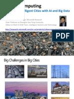 微软亚洲研究院-郑宇-城市计算