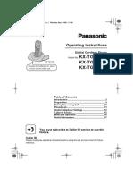 Panasonic KX-TGA110EX User Manual