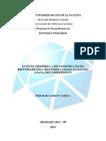 Estudos Literarios 2015-05-25 Deborah Garson Cabral
