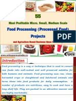 55 Most Profitable Micro, Small, Medium Scale Food Processing (Processed Food) Projects