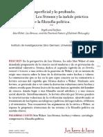 Luciano Nosetto - Lo superficial y lo profundo. Max Weber, Leo Strauss y la índole práctica de la filosofía política