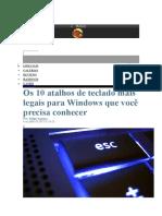 Atalhos Windows