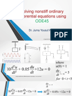 Solving Nonstiff Ordinary Differential Equations Using ODE45