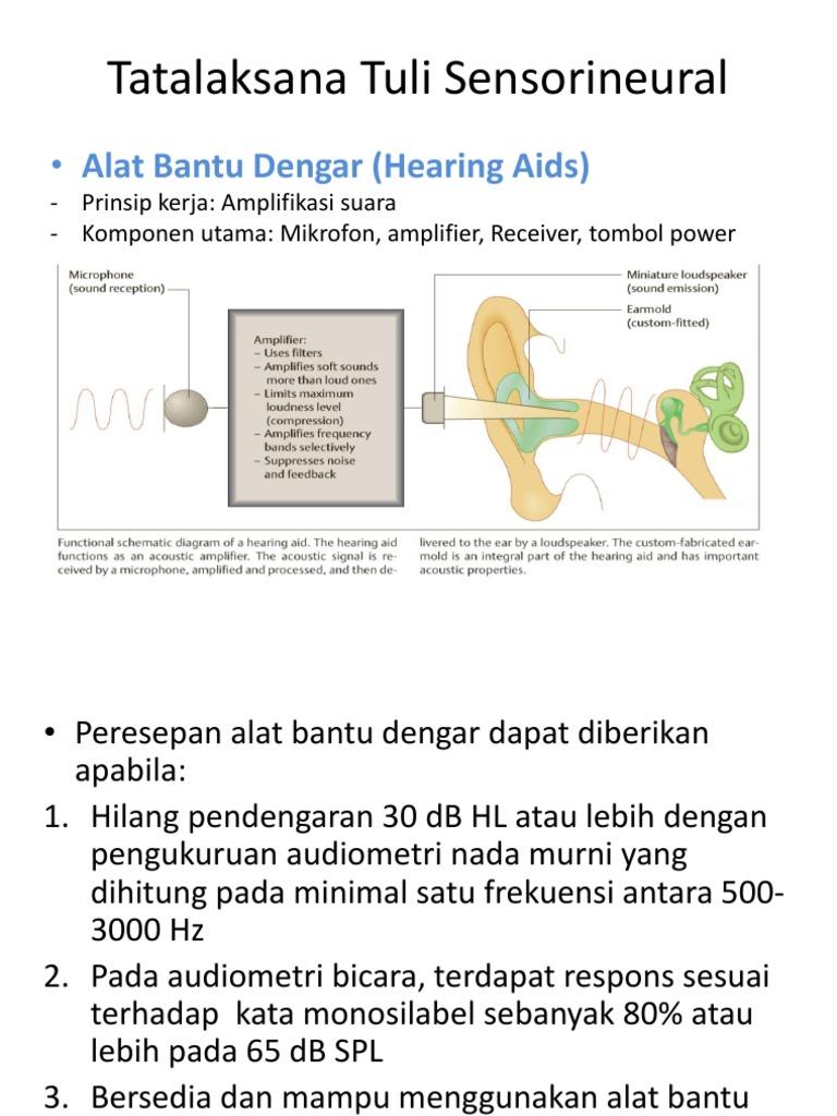 Tatalaksana Tuli Sensorineural Hearing Aid Alat Bantu Dengar 1538025820v1