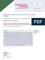 Análisis de Los Factores de Riesgo de Muerte Neonatal en Chile,