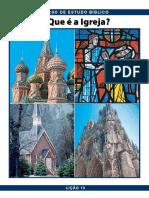 Pbc Curso de Estudo Biblico Licao 10 o Que e a Igreja