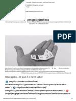 Usucapião - O Que é e Deve Saber - João Carlos Pinto Correia
