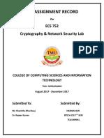 Ecs 752 Lab Assignment