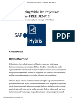 Hybris Training With Live Projects & Certification - FREE DEMO !!!