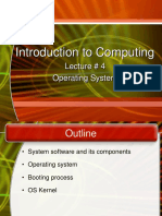 Lecture 4 - Operating System