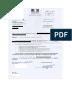Lettre de l'administration pénitentiaire.