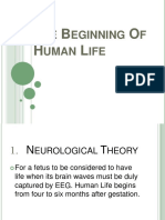The Beginning of Human Life Ppt