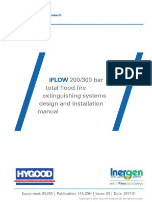 Iflow Inergen Design And Installation Manual Hygood 14a 23h Iss 03 Valve Carbon Dioxide