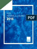 Informe Al Usuario 2016
