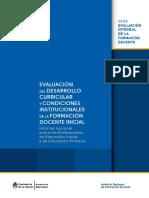 Evaluación Curricular e Institucional ISFD 2015