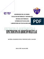 Espectroscopia de Absorcion Molecular UV-Vis