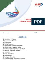 Universe Designer Training