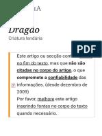 Dragão – Wikipédia, A Enciclopédia Livre