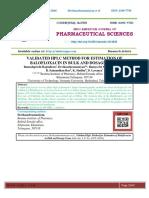 VALIDATED HPLC METHOD FOR ESTIMATION OF BALOFLOXACIN IN BULK AND DOSAGE FORM