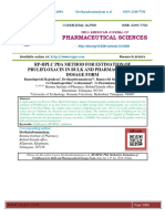 RP-HPLC PDA METHOD FOR ESTIMATION OF PRULIFLOXACIN IN BULK AND PHARMACEUTICAL DOSAGE FORM