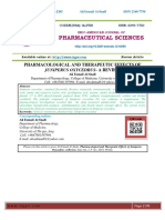 PHARMACOLOGICAL AND THERAPEUTIC EFFECTS OF JUNIPERUS OXYCEDRUS- A REVIEW