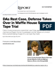 DAs Rest Case, Defense Takes Over in Waffle House Sex Tape Trial | Daily Report