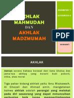 Akhlak Mahmudah DAN MAZMUMAH