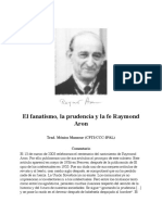 ARON, Raymond, El Fanatismo, La Prudencia y La Fe (Articulo, Texto)