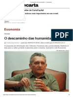 O Descaminho Das Humanidades — CartaCapital (1)