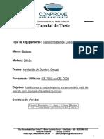 Tutorial Teste TC Balteau SC 24 Burden CE70XX
