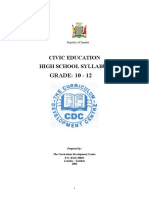 177254666 Civic Education Syllabus Grade 10 12