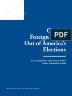 Getting Foreign Funds Out of America's Elections