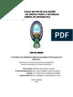 """CONTROL DE DISPENSADORES DE ODORIZACIÓN BASADO EN ARDUINO"""""""