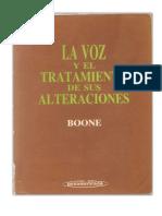 Boone - La Voz y El Tratamiento de Sus Alteraciones