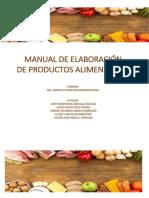 Manual de Elaboración de Productos Alimentarios Imprimir