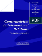 ZEHFUSS, Maya. Constructivism in International Relations, The Politics of Reality.