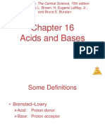 CH 16-Acids and Bases