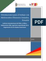 Orientaciones Tecnicas Trabajo Con Adolescentes Ofensores Sexuales Ecuador Ministerio de Justicia DHyC-IIN