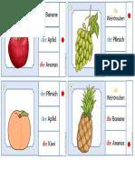 Miniklammerkarten Früchte