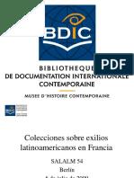 Colecciones Sobre Exilios Latinoamericanos en Francia