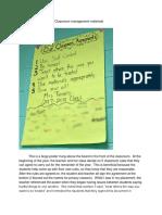 classroom document - classroom management materials  1
