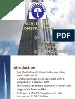 54870953 Burj Dubai Concept Design and Construction Presentation