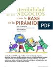 La sostenibilidad de los negocios con la base de la pirámide