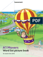 Movers Word List Picture Book 2018