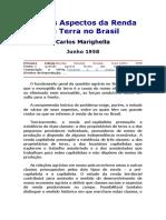 Alguns Aspectos Da Renda Da Terra No Brasil - Carlos Marighella Junho 1958