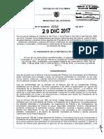 Decreto 2252 Del 29 de Diciembre de 2017