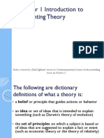 Chapter 1 Introduction to Accounting Theory