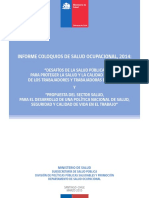 Informe Final Coloquios Salud Ocupacional 2014