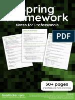 Notas Profesionales Spring (Ingles)
